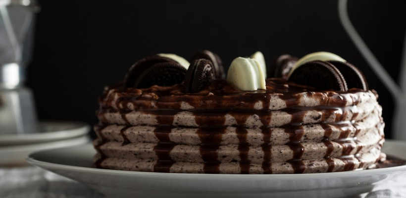 עוגת יום הולדת אוראו ושוקולד