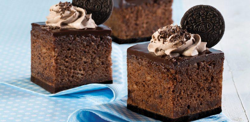 עוגת שוקולד חגיגית בטעם של פעם עם אוראו