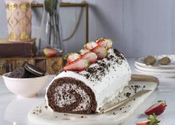 רולדת שוקולד במילוי קרם וניל עוגיות
