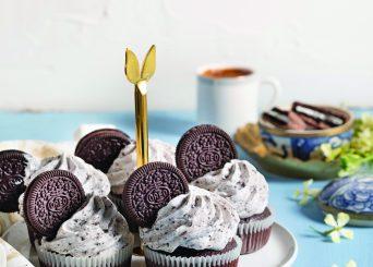 קאפקייקס שוקולד עם קרם מסקרפונה ואוראו